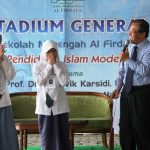 Rektor UNS Ravik Karsidi, saat memberikan sambutan di acara Pakrabsi Sekolah Menengah Al Firdaus